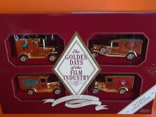 Lledo - The Golden Days Of The Film Industry - 4 x 24 Caret Gold Plated Cars