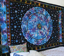 Queen Size Indian Ethnic Wall Hanging Tapestry Home Decorative Bedspread Throw
