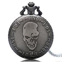Classic Skull Design Death Note Men Women Quartz Pocket Watch Pocket Watch Gift