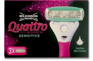 Wilkinson Sword Quattro for Women Sensitive Razor Blades 3 6 9 pack