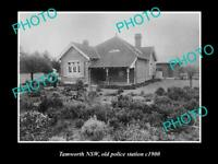 OLD 8x6 HISTORIC PHOTO OF TAMWORTH NSW VIEW OF THE OLD POLICE STATION c1900