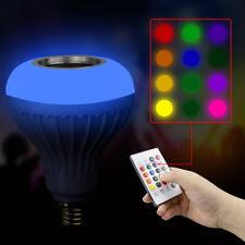 E27 12W Music LED Light Bulb with Bluetooth Speaker RGB Built-in Audio Speaker