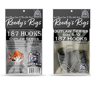 5/0 Fishing Hook Snapper Kingfish Octopus Beak Reedy's 187  Pack of 25 Hooks