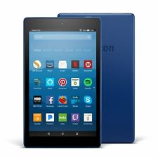 "Amazon Fire HD 8 Tablet E-Reader with Alexa, 8"" HD Display, 16 GB – Marine Blue"