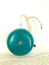 Vintage metal bell for home House bell Blue door bell Wired round push button do