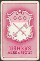 Playing Cards 1 Single Card Old USHERS Brewery ALES + STOUT BEER Advertising Art