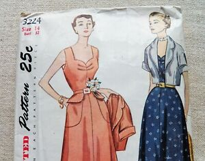 """1930s -1940s Simplicity Vintage Sewing Pattern - Size 14 Bust 32"""""""
