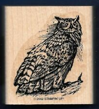 OWL BODY Wildlife Bird of Prey Feathers Branch Stampin' Up! 2002 RUBBER STAMP