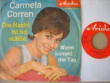 Carmela Corren - Die Nacht ist so schön - Single 60er D Ariola 45 269