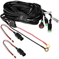 Primelux 12ft 16Gauge 2-Way Relay Wiring Harness for LED Light Bars 12V40A Relay