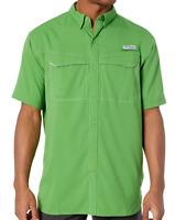 NEW Columbia Mens PFG Low Drag Offshore Short Sleeve Shirt Clean Green 2XT