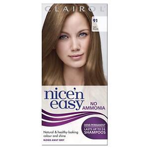 Clairol Nice'n Easy Semi-Permanent Hair Dye No Ammonia 91 Dark Blonde