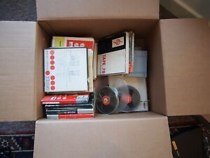 """Reel To Reel Large Quantity Assorted 1/4"""" 5"""" 7"""" Tapes & Boxes Various Recordings"""