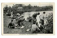 In for a Dip C.E. F. Mobilization Camp VALCARTIER QC Canada © 1915 T.H. Davies