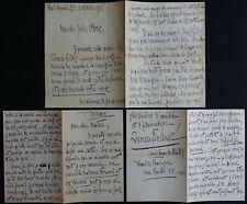 Lucien ROLMER, 3 autographes à Jules BOIS / Tué à l'âge de 36 ans / Beau lot !