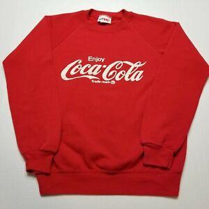 Vtg Coca-Cola Sweatshirt Mens M Coke Crewneck Soda Bassett Walker USA 90s W71