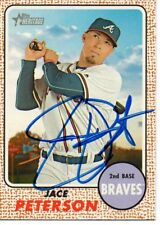 Jace Peterson Atlanta Braves 2017 Topps Heritage Signed Card