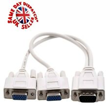 High Density VGA/ SVGA MONITOR/TV/PROJECTOR Splitter duel screen Cable Adapter
