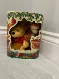 New Winnie The Pooh And Tigger Teddy Bear In Box.