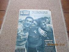 JOURNAL MIROIR DES SPORTS BUT CLUB 694 3 juillet 1958 geminiani
