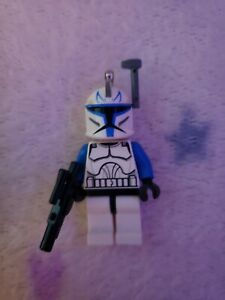 Lego Star Wars CAPTAIN REX Phase 1 Minifigure Clone AUTHENTIC sw0314 Keyring Ver