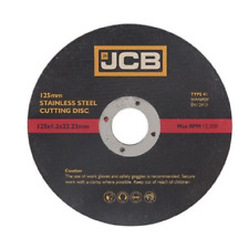 """JCB (5"""") 125 x 1.2mm Thin stainless steel metal cutting disc 2X PACK OF 5 (8377)"""