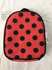 New American Girl Child Red Black Spotted Ladybug Lunch Box Bag