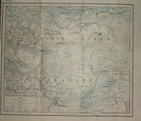 Landkarte/Kampf Plan ~ Campaign IN Holland 1814 ~ Die Niederlande Napoleonic