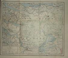 Carte / plan de bataille ~ campagne en Hollande 1814 ~ Pays-Bas guerres napoléoniennes