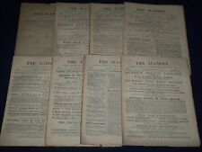 1887 THE ACADEMY WEEKLY REVIEW OF LITERATURE LOT OF 52 COMPLETE - LONDON - O 1