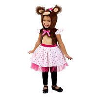 Baby Toddler Girls Brown Teddy Bear Halloween Costume Dress Hood 6-12-18 2T 3T 4