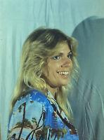 Vintage Photo Slide 1982 Blonde Expression Smiling