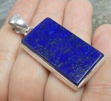Chunky 925 Silver BLUE LAPIS LAZULI Pendant P780~Silverwave*uk Jewellery