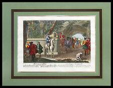 Daniel Johann Ridinger Elias Die Gruppe an der Wand Poster Kunstdruck und Rahmen