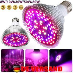 8W-80W LED Pflanzenlampe UV Full Spectrum Grow Light Lampe Wachsen Licht E26/E27