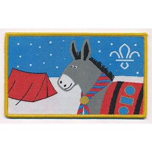 Scouts Christmas Appeal Donkey Fun Blanket Badge 2018