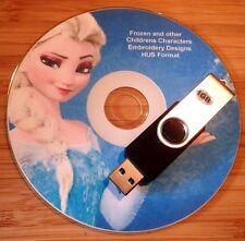 HUS EMBROIDERY Designs congelati Disney e 4800 Caratteri per Bambini su chiavetta USB