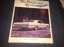 1965 Pontiac Canadian Version Full Line Catalog Brochure Prospekt