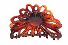 Caravan French Flare Open Sun Flower Hair Claw Tortoises Shell Lg 1.25 Ounce