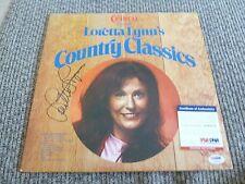 Loretta Lynn Signed Autographed RARE Crisco Classics LP Record PSA Certified