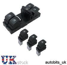 4 PCS SET OF CHROME WINDOW SWITCH CONTROL FOR 4 DOOR VW PASSAT GOLF MK5 6 JETTA