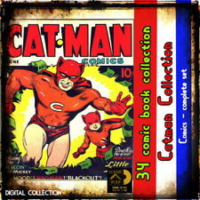 Cat-Man golden age superhero comic books adventure-  war- crime