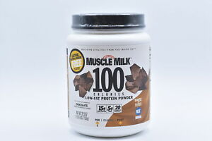Muscle Milk 100 Calorie Low Fat Protein Powder, Chocolate, 1.65lbs EXP:12/21