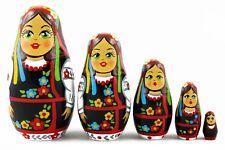 Ukrainian Folk Dress Russian Stacking Nesting Dolls Matryoshka set 5 Pcs