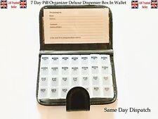 7 DAY PILL WALLET MEDICATION BOX ORGANISER HOLDER STORAGE TRAVEL PILL DISPENSER
