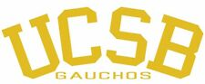 This is a UCSB Gaucho college vinyl sticker or decal. Great for Car or laptop!!