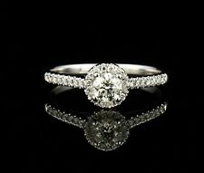 IN LOVE BY BRIDES NATURAL 1/2ctw DIAMOND HALO 14K WHITE GOLD ENGAGEMENT RING