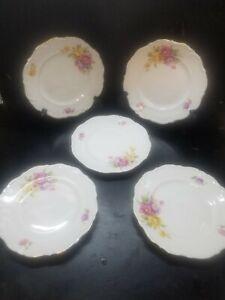 1945 Winterling Roslau Bavaria Gold Trim 8 Inch Dish Set Lot - Plate - RARE