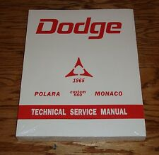 1965 Dodge Polara Custom 880 Monaco Service Shop Manual 65