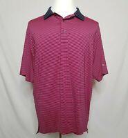 FootJoy ProDry Lisle Mens Large Golf Polo Shirt Striped Short Sleeve Stretch